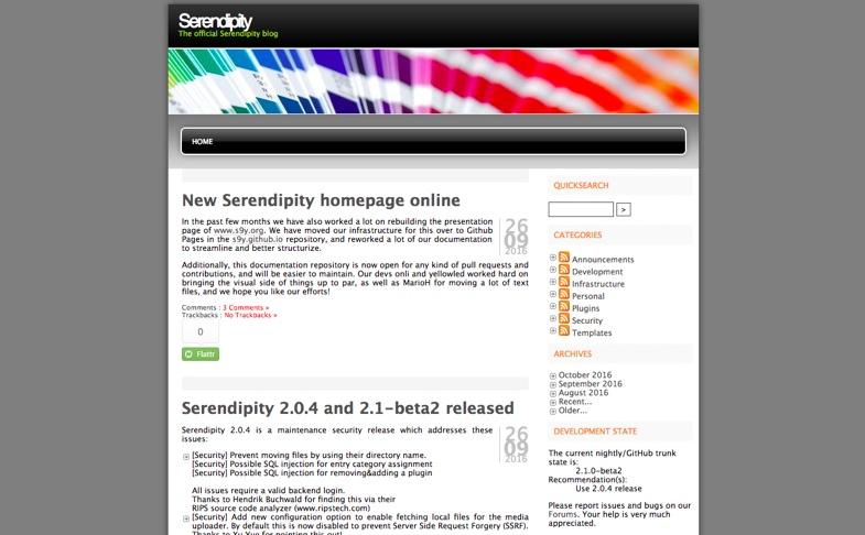 Spartacus | Serendipity Blog System